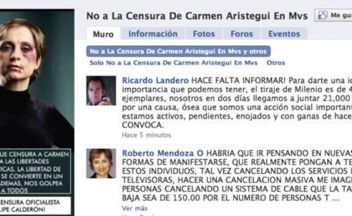 Carmen Aristegui bate récord en Facebook