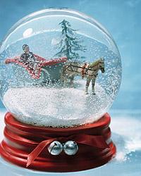 Navidad: Manualidad, bola de cristal con nieve