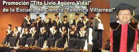 Ceremonia de Graduación de la Promoción Tito Livio Aguero Vidal de la Escuela de Ciencia Política de la Universidad Nacional Federico Villarreal