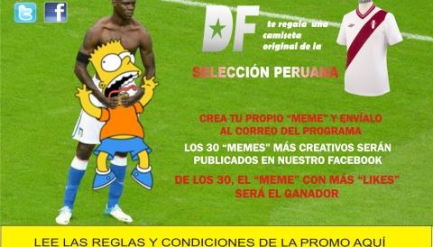 CREA TU PROPIO 'MEME' Y GANA UNA CAMISETA ORIGINAL DE LA SELECCIÓN PERUANA