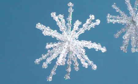 Navidad: copos de nieve para el árbol de Navidad