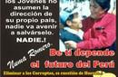 LOS JÓVENES A RECUPERAR EL PAÍS DE MANOS DE POLÍTICOS Y GOBERNANTES CORRUPTOS