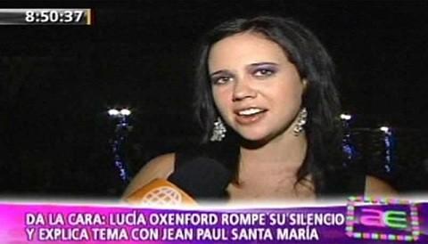 ¿Cree que Lucía Oxenford recuperará su dignidad con la revelación de Jean Paul Santa María?