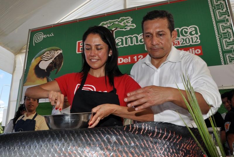 Presidente Ollanta Humala, junto a la Primera Dama, Nadine Heredia, clausuró la feria Expoamazónica 2012, en Pucallpa