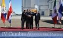 Presidente Ollanta Humala, en la firma del acuerdo marco de la Alianza del Pacífico, en la Región chilena de Antofagasta