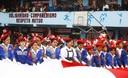 Decenas de escolares del colegio 2049 San Felipe, Comas pasearon bandera más grande del Perú