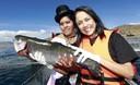 Primera Dama Nadine Heredia en el lanzamiento de la marca colectiva 'Andean Trout' (trucha andina) en Puno