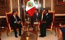 Presidente Ollanta Humala recibio a Director de la ONUDI Kandeh Yumkella en palacio de gobierno