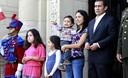 Presidente Ollanta Humala encabezó ceremonia de cambio de guardia montada en Palacio de Gobierno por el día del padre