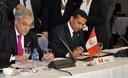 Presidente de la República, Ollanta Humala, durante la reunión extraordinaria de la Unión de Naciones Suramericanas