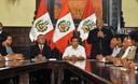 Presidente Ollanta Humala  participó en la ceremonia de suscripción de convenios de financiamiento de proyectos de inversión pública