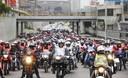 Miles de motocicletas realizaron caravana en Lima por Fiestas Patrias
