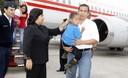Presidente Ollanta Humala y Primera Dama Nadine Heredia visitaron a niños rescatados de Sendero Luminoso