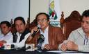 Conferencia de prensa del Presidente Regional de Cajamarca, Gregorio Santos