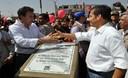 Presidente Ollanta Humala participó en la ceremonia de inauguración de pistas, veredas en San Martín de Porres