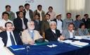 Reunión entre sacerdotes Miguel Cabrejos y Gastón Garatea con autoridades de Cajamarca