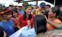 Primera Dama, Nadine Heredia, visitò comunidades nativas afectadas por inundaciones en el distrito de Andoas Loreto