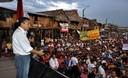 Presidente Ollanta Humala entrega titulo de propiedad en Belen ,Región Loreto