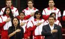 Jefe de Estado, Ollanta Humala, despide en palacio de gobierno a la delegación nacional que participará en Olimpiadas de Londres 2012