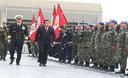 Ministro de Defensa, José Urquizo Maggia, dio la despedida al contingente de Cascos Azules que partirá a Haití