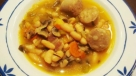 Sopa de alubias con butifarra