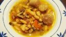 Sopa de alubias con butifarra
